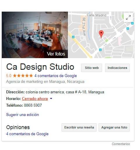 Reseñas en Google